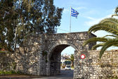 Freedom gate at Mesologi city of Greece — Stock Photo