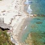 Sunny beach at Halkidiki in Greece — Stock Photo