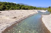 Aspropotamos river near Trikala city in Greece — Stock Photo