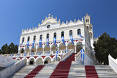 Panagia Evangelistria church at Tinos island, Greece — Foto Stock