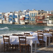 Travel destination of Mykonos island in Greece — Stock Photo