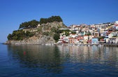 Parga bay and town in Greece — Stock Photo
