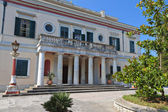 Mon Repo palace at Corfu island in Greece — Stock Photo
