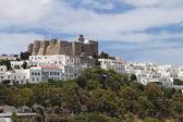 Monastery of St. John the Evangelist at Patmos island in Greece. — Stock Photo