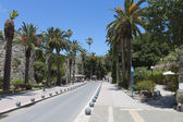 City view and historic landmarks from Kos island in Greece — Stock Photo