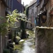 Small old street in Pont Audemer France — Stock Video