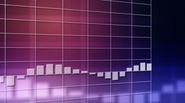Bar chart background — Stock Video