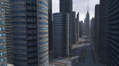 Virtual city — Stock Video