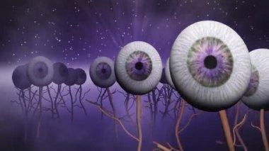 Eye planet purple — Stock Video