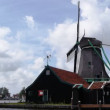 Sewing mill at the Zaanse Schans in Holland — Stock Video