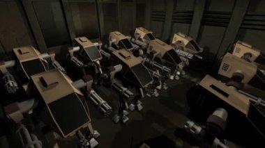 армия роботов — Стоковое видео