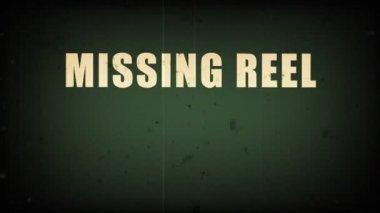Missing reel — Stock Video