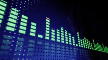 Music VU meters — Stock Video