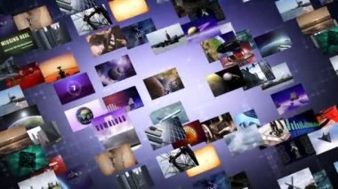 Animated video wall — Stock Video