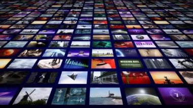Video wall panorama perspective — Stock Video