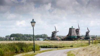 Wind mill landscape scenery — Stock Video