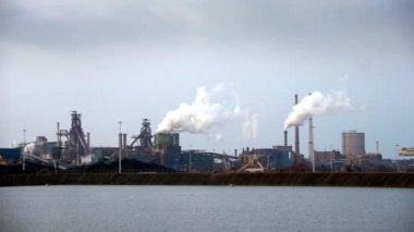 Industrial panorama — Stock Video
