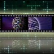 Stock Video: Reel clip sci-fi loop-able