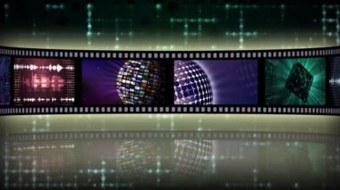 Reel clip sci-fi loop-able — Stock Video