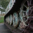 Close-up of a German tiger 1 tank in Normandy France — Stock Video