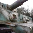 Close-up of a German tiger tank in Normandy France — Stock Video