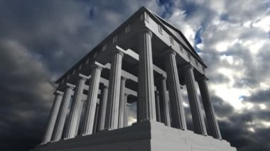 Animation of an ancient greek temple — Stock Video
