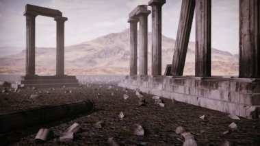 Animation the remains of an ancient greek temple — Stock Video