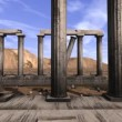Stock Video: Abandoned Greek pillars