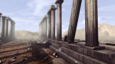 Greek pillars with depth-of-field — Stock Video