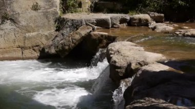 река салс рен ле бен, франция — Стоковое видео