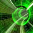 Animated wormhole through space, green — Stock Video