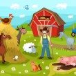 Vector de stock : Farm
