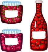 Fruits jam — Stock Vector