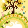 Easter tree — Stock Vector