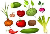 Vegetables set — Stock Vector