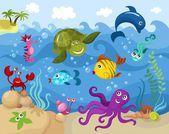 Underwater world — Stock Vector