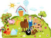 Farm life — Stock Vector