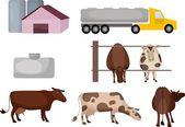 Cows — Stock Vector