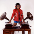 Stock Photo: Gramophone dj