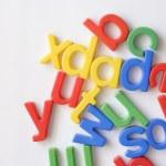 Letter fridge magnets — Stock Photo #12789231