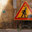 Road sign roadwork — Foto Stock