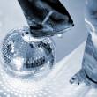 Glitterball and shoe — Foto Stock