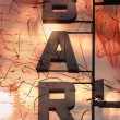 Bar letters - Stock Photo