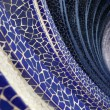 Blue mosaic wave - Foto Stock