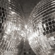 Two discoballs — Stock Photo