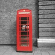Stock Photo: Red call box
