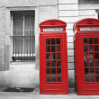 Red call boxes — Stock Photo