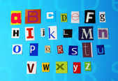 Alphabetical letters — Stock Photo