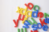 Letter fridge magnets — Stock Photo