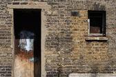 Prédio queimado — Foto Stock